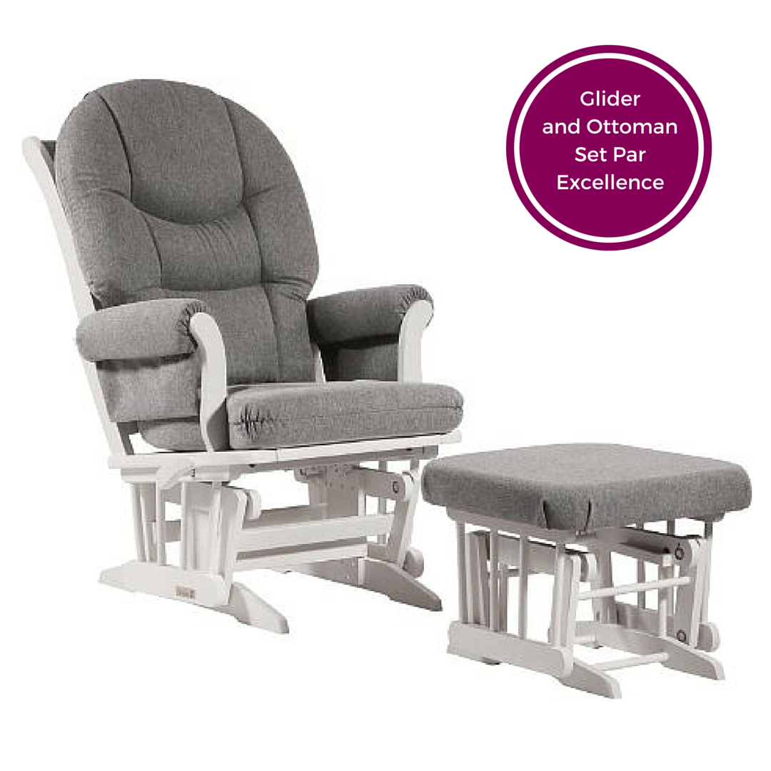 Dutailier Sleigh Multi-Position Glider and Ottoman