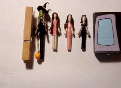 Toothpick worry dolls