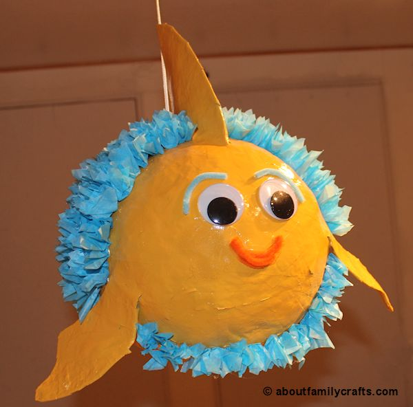 How to make a paper mache fish piñata