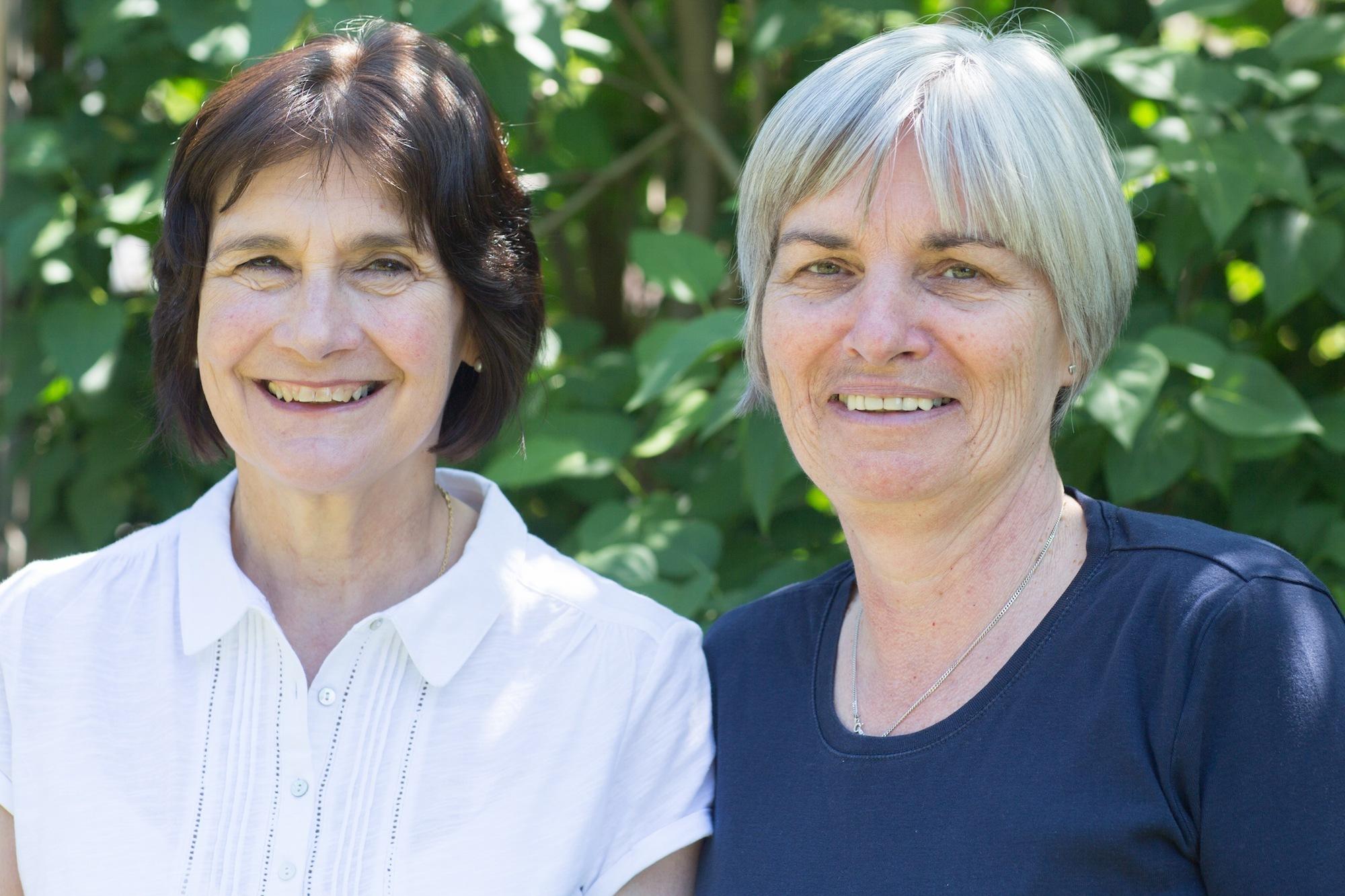 Mary Atkinson and Sandra Hooper