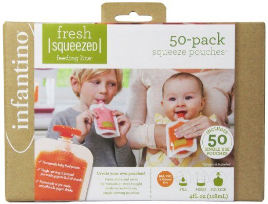 Best Reusable Baby Food Pouches Taking Homemade Food On